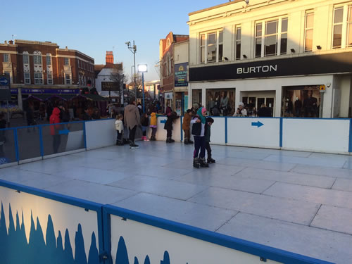 rent an ice skating rink
